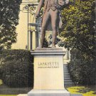 Easton, PA Postcard Statue of Lafayette (A722) Penna, Pennsylvania