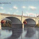 Bethlehem, PA Postcard Hill to Hill Bridge (A723) Penna, Pennsylvania