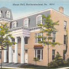 Northumberland, PA Postcard Moose Hall  (A725) Penna, Pennsylvania