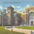Bethlehem, PA Postcard - Masonic Temple (A730) Penna, Pennsylvania