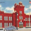 Pottsville, PA Postcard - Armory - Old Car (A731) Penna, Pennsylvania