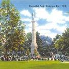 Hazleton, PA Postcard - Memorial Park, Civil War Canon (A732) Penna, Pennsylvania