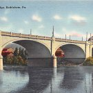 Bethlehem, PA Postcard Hill to Hill Bridge (A744) Penna, Pennsylvania