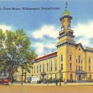 Williamsport, PA Postcard - Lycoming County Court House (A745) Penna, Pennsylvania