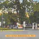 Northumberland, PA Postcard Library & Park (A746) Penna, Pennsylvania