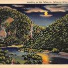 Delaware Water Gap, PA Postcard Moonlight on the Delaware (A771) Penna, Pennsylvania