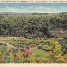 Titusville, PA Postcard Bird's Eye View Drake Memorial State Park 1934 (A773) Penna, Pennsylvania
