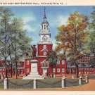 Philadelphia, PA Postcard Independence Hall, Barry Statue, 1936 (A776) Penna, Pennsylvania