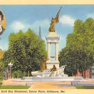 Baltmore, Md Eitaw Place, F. Scott Key Postcard (B280) Maryland