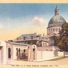 Annapolis, Md Naval Academy, Main Gate Postcard  (B292) Maryland