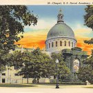Annapolis, Md Chapel, Naval Academy, Postcard  (B314) Maryland