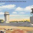 Chicago, Ill Postcard Grant Park (B9) IL, Illinois