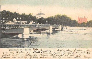 Stockholm, Sweden, Sverige Postcard - Skeppsholmsbron (B320-321)