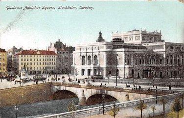 Stockholm, Sweden, Sverige Postcard -Gustavus Adolphus Square (B334-335)