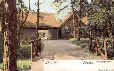 Skansen, Sweden, Sverige Postcard - Oktorpsgarden (B336-337)
