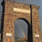 Roosevelt Arch, Gardiner, Montana - Continental Postcard (B377)