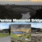 Perrine Memorial Bridge, Idaho - Continental Postcard (B362)