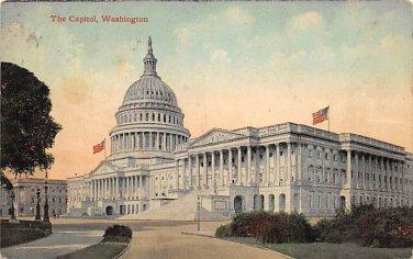 Washington, DC The Capitol Postcard 1911 (B391)