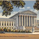 Washington, DC US Supreme Court Bldg Linen Postcard (B392)