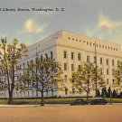 Washington, DC Congressional Library Annex Linen Postcard (B393)