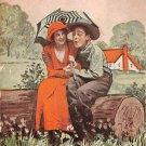 Everything's green believe me - Romance Postcard (B411)