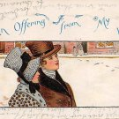 An Offering From My Heart - Romance Postcard (B427)