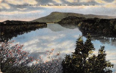 Chattanooga, Tenn Lookout Mountain View Postcard (B442) Tennessee