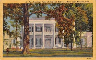 Nashville, Tenn The Hermitage Postcard 1954 (B443) Tennessee