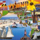 Ocean City, Maryland Map - Continental Postcard (B453-454)