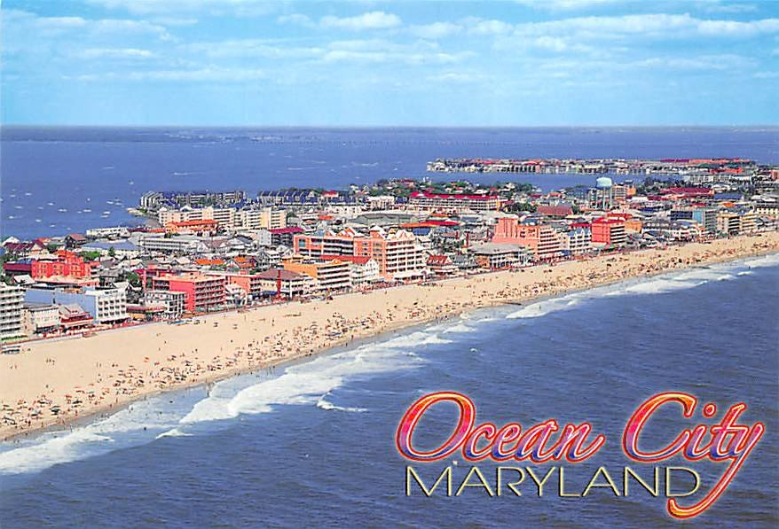 Ocean City Maryland Beach Aerial Continental