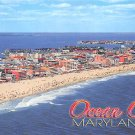 Ocean City, Maryland Beach Aerial View - Continental Postcard (B455-456)