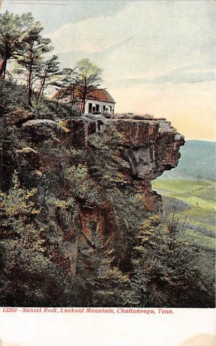 Chattanooga, Tenn Lookout Mountain Sunset Rock Postcard (B444) Tennessee
