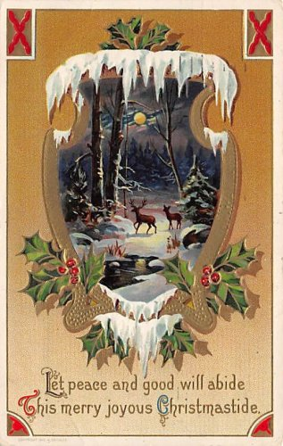 This merry joyous Christmastide - Embossed (B534-535)