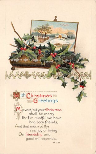 With Christmas Greetings - Embossed (B536-537)