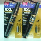 Pack OF 2 MAYBELLINE XXL  SOFT BLACK 595 Microfiber Mascara