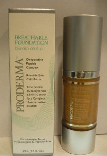 Proderma Breathable Foundation Blemish Control Oxygenating Peptide Complex HONEY