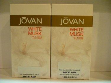 JOVAN WHITE MUSK  Ladies Perfume For Women 1 fl.oz Pack of 2