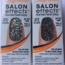 2 Sally Hansen Salon Effects Real Nail Polish Strips  #210 FROCK STAR Glitter