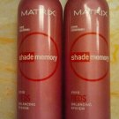 2 MATRIX Shade Memory REDS Color Enhancing Foam Conditioner Warm 6.9 oz Each