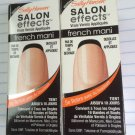 2 Sally Hansen Salon Effects Nail Polish Strips 005 NOIR BOUDOIR French Mani
