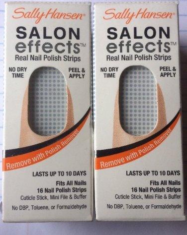 2 Sally Hansen Salon Effects Nail Polish Strip # 02 ON THE DOT