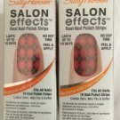 2 Sally Hansen Salon Effects Nail Polish Strips * 420 SWEET TART-AN
