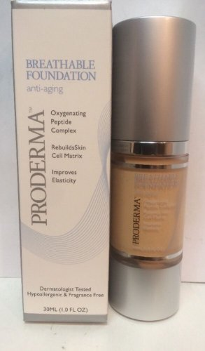 Proderma Breathable Foundation Anti-Aging  Oxygenating Peptide Complex CREME