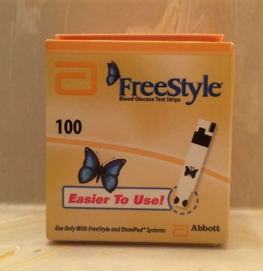 Freestyle Free Style Blood GlucoseTest Strips 100 CT Exp 8/2015