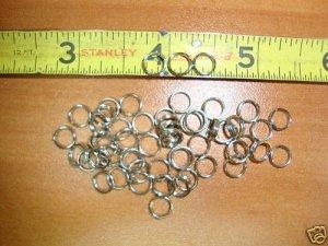 7 mm NKL Fine Gauge Split Rings 100pc. jewelry, lures