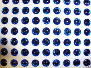4mm Blue 120p 3D Holographic Eyes Lure Making Fly Tying