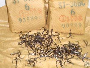 100pc.Owner Stinger ST-36 Black Chrome Treble Hooks #6