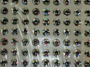 5mm Silver 140pc 3D Molded Fish Eye Lure & Fly Making