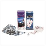 DOMINOS AND JIGSAW PUZZLE TWIN PACK  Retail: $ 9.95