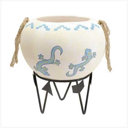 DESERT SPIRIT POT WITH METAL STAND  Retail: $24.95